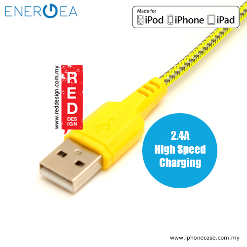 Picture of Energea NYLOTOUGH MFI Rapid Charge and Sync Lightning Braid Cable 1.5M - Yellow
