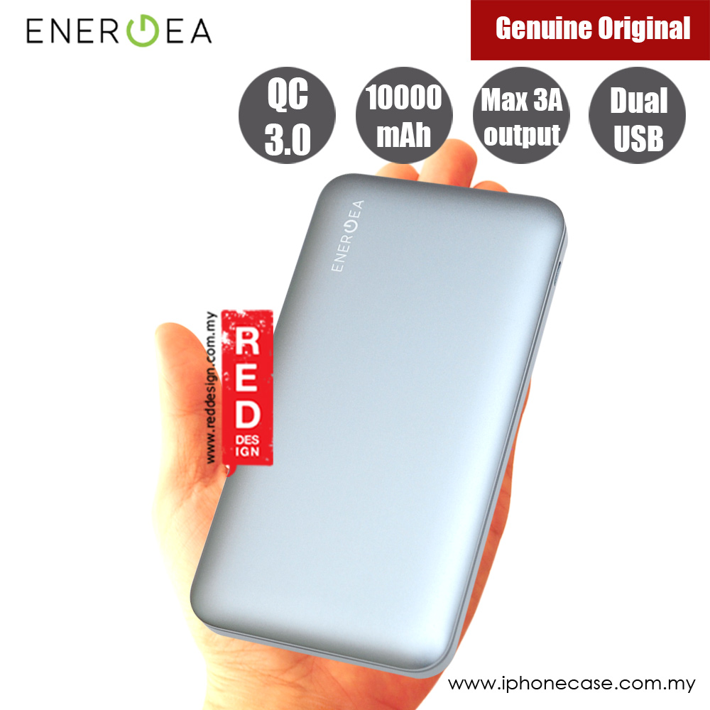 Picture of Energea ALUBOOST 10000mAh Power Bank with USB and USB-C Quick Charge 3.0 (Gunmetal)