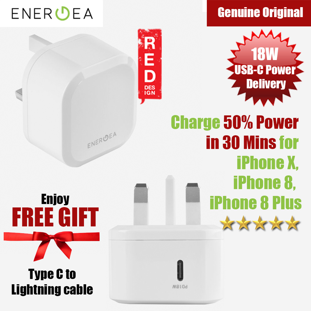 Picture of Energea Ampcharge PD18 Fast Charger USB-C Power Delivery Wall Charger for New Macbook iPhone XS Max iPhone 8 Plus