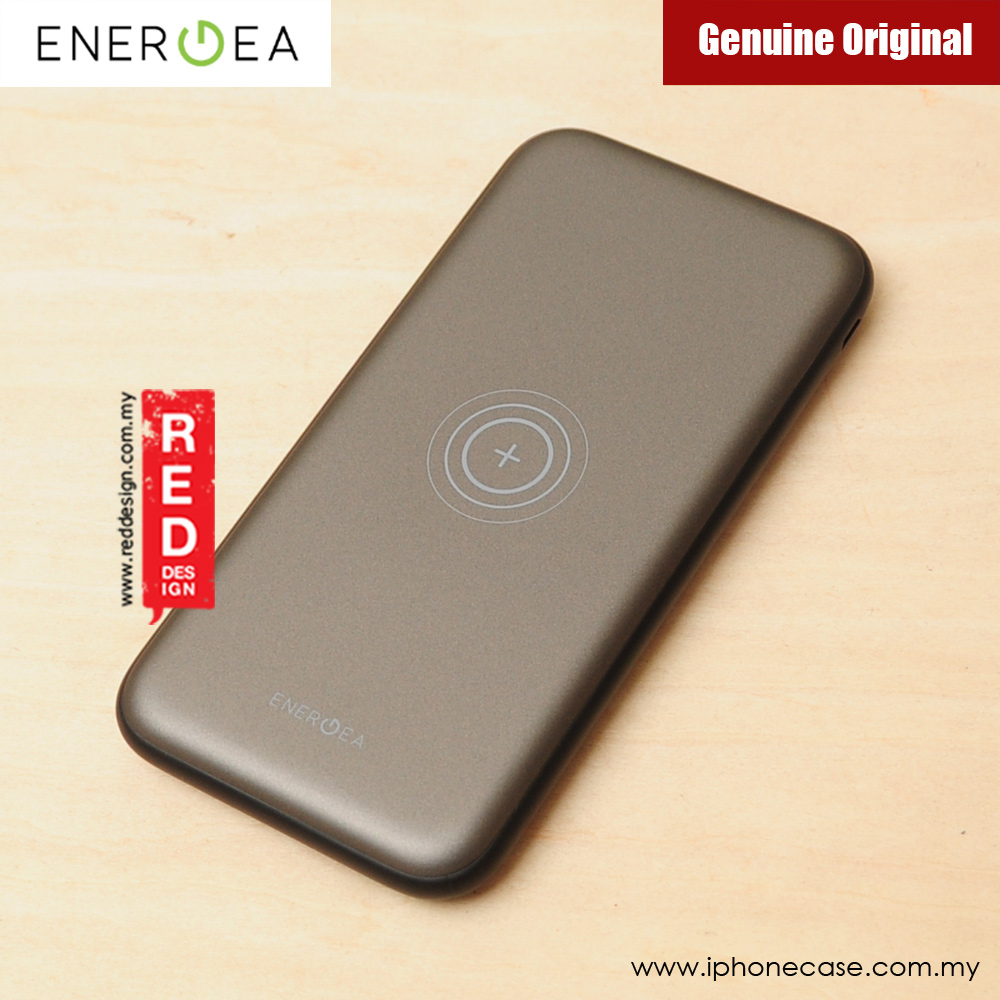 Picture of Energea Slimpac 8000W 8000mAh Slim Power Bank with Wireless Charging (Gunmetal)