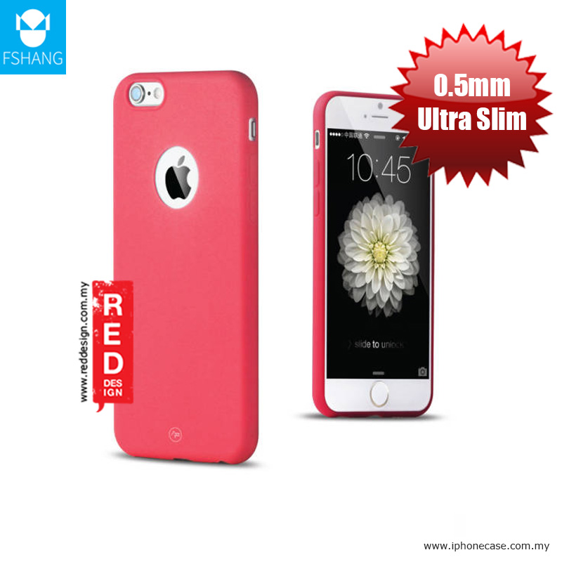 big sale cc7b1 295c5 Fshang Soft Color Ultra Slim Case for Apple iPhone 6S Plus 5.5 - Red