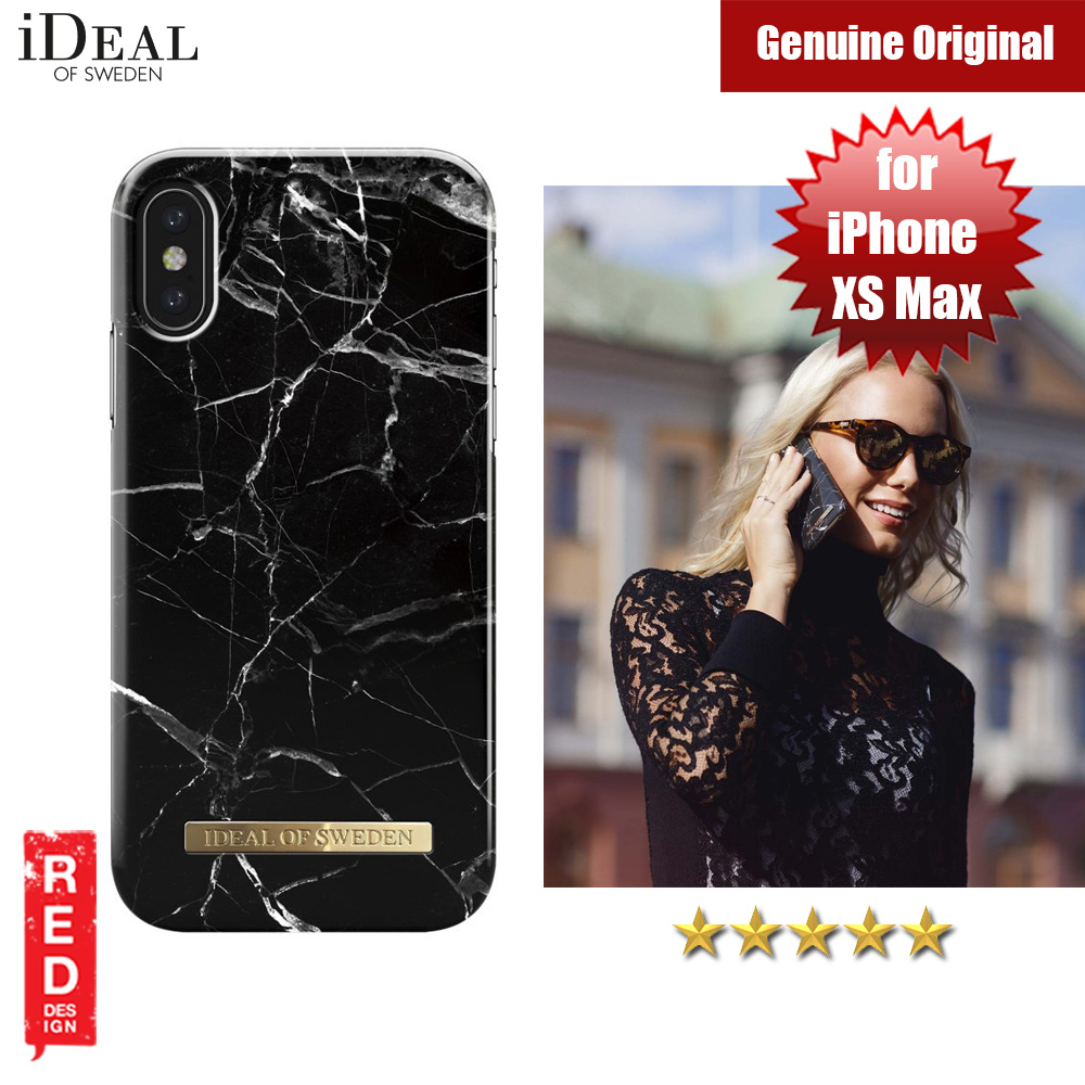 quality design 6b643 10db7 iDeal of Sweden Fashion Hard Cover Back Case for Apple iPhone XS Max (Black  Marble)