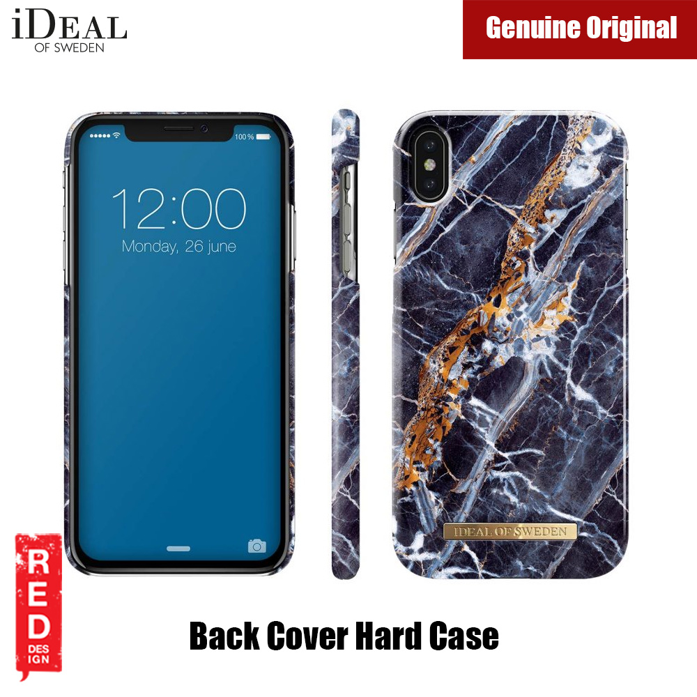 super popular 10b69 e31c8 iDeal of Sweden Fashion Hard Cover Back Case for Apple iPhone XS Max  (MIDNIGHT BLUE MARBLE)