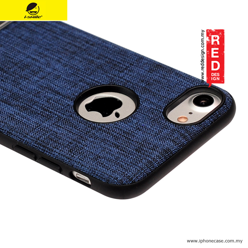 various colors 8cd19 78ff1 iSmile JunQing Series Fabric Kickstand Back Cover Case for Apple iPhone 7  iPhone 8 4.7 - Navy Blue