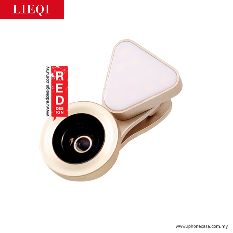 Picture of LIEQI LED FLASH LIGHT 3 in 1 Smartphone Camera Lens LQ035 - Champagne Gold