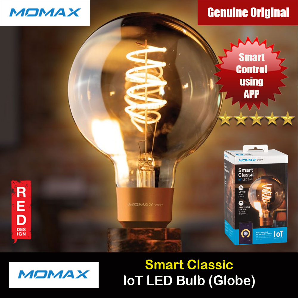 Picture of Momax App Wifi Control Smart Classic IoT LED Bulb Controlable Color Temperature and Brightness Bulb E27 (Globe)