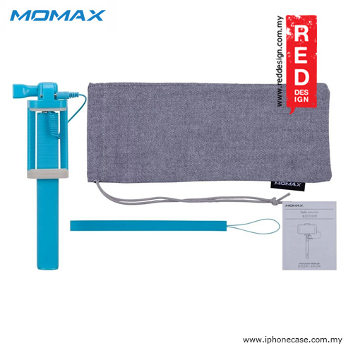 Picture of Momax Selfie Mini Mini Pocket Monopod with Audio Shutter 17cm to 70cm - Blue