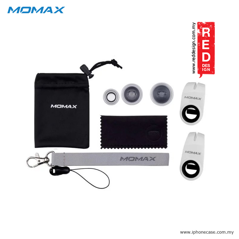 Picture of Momax X-Lens Universal Clip 3 in 1 Superior Lens Wide Angle Macro Fish Eye Smartphone Lens - Silver