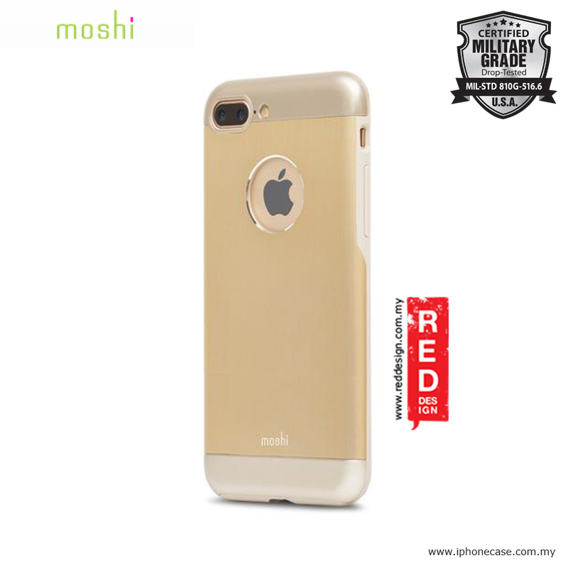 watch 3fd00 aaa32 Moshi iGlaze Armor Military Grade Protection Back Cover Case for Apple  iPhone 7 Plus iPhone 8 Plus 5.5 - Satin Gold
