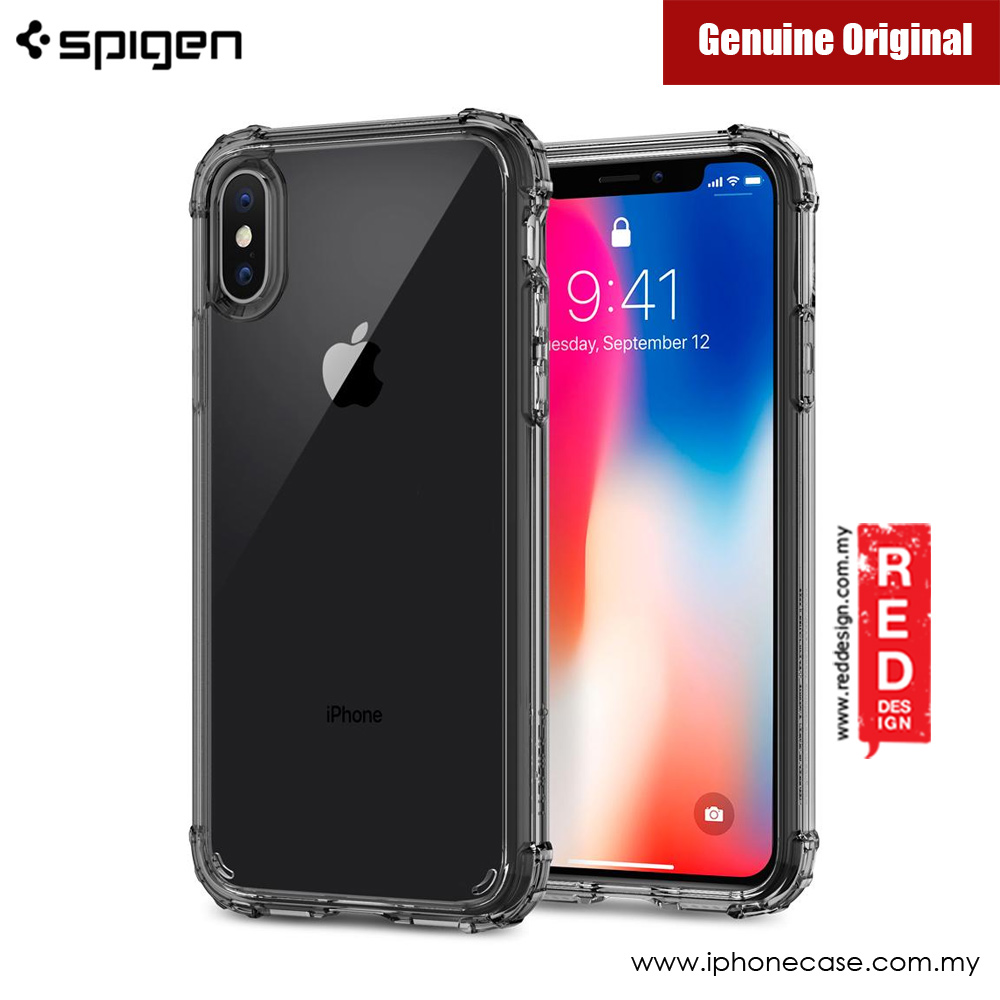 newest collection 03767 93412 Spigen Crystal Shell Protection Case for Apple iPhone X (Dark Clear)