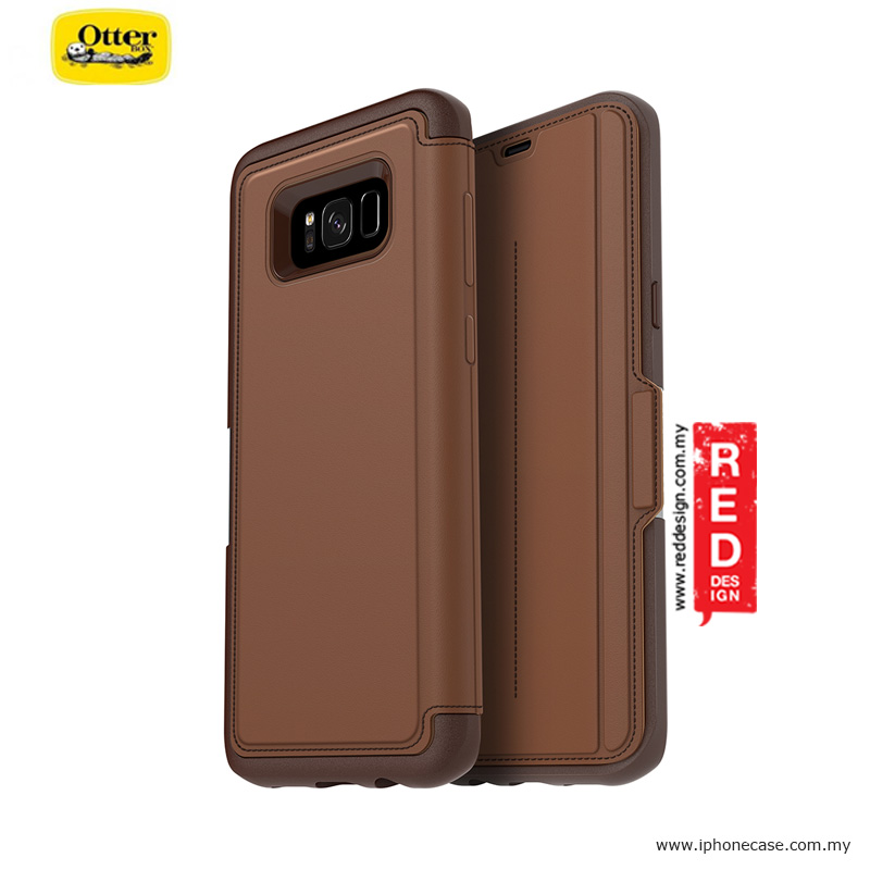 newest b9dfe 1a415 Otterbox Strada Series Protection Flip Case for Samsung Galaxy S8 Plus -  Burnt Saddle