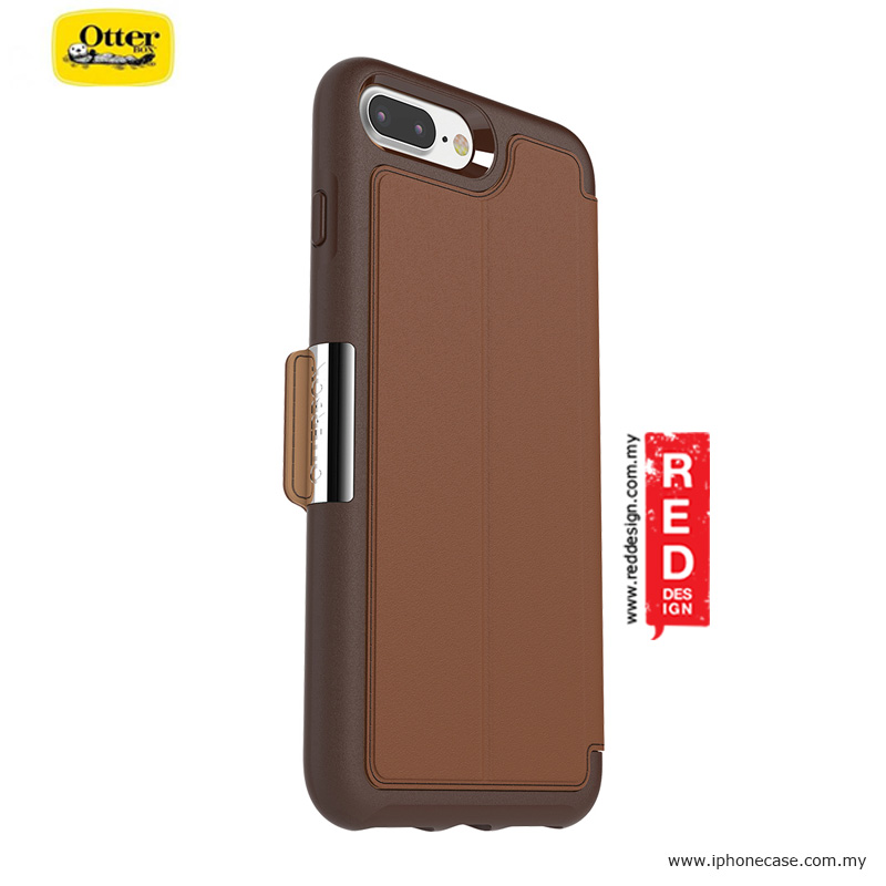 separation shoes b3d16 68cb2 Otterbox Strada Series Folio Premium Leather Protection Case for Apple  iPhone 7 Plus iPhone 8 Plus 5.5 - Burnt Saddle