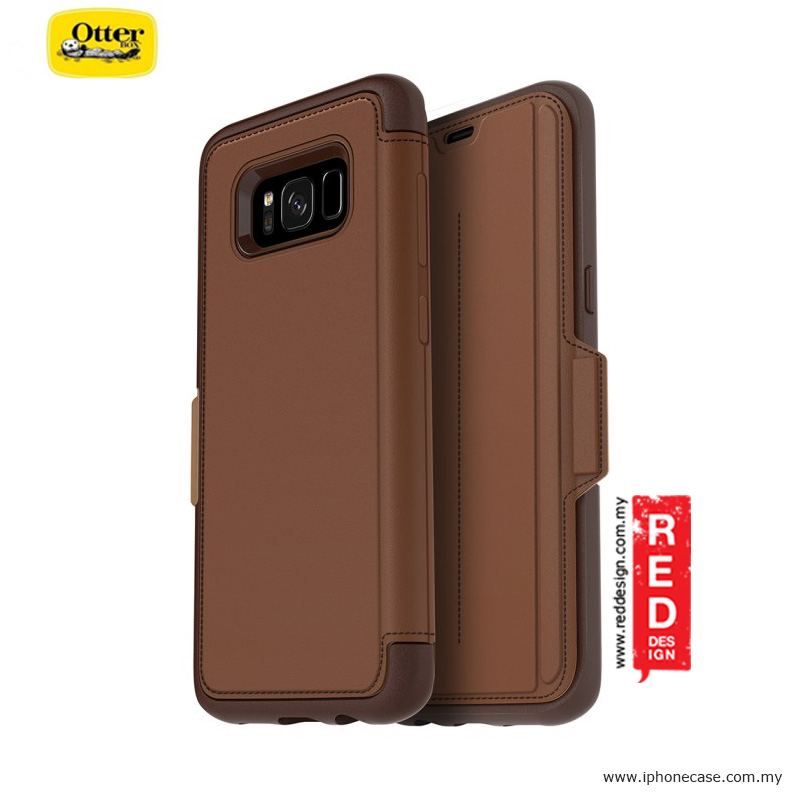 new style eeb22 fab01 Otterbox Strada Series Protection Flip Case for Samsung Galaxy S8 - Burnt  Saddle