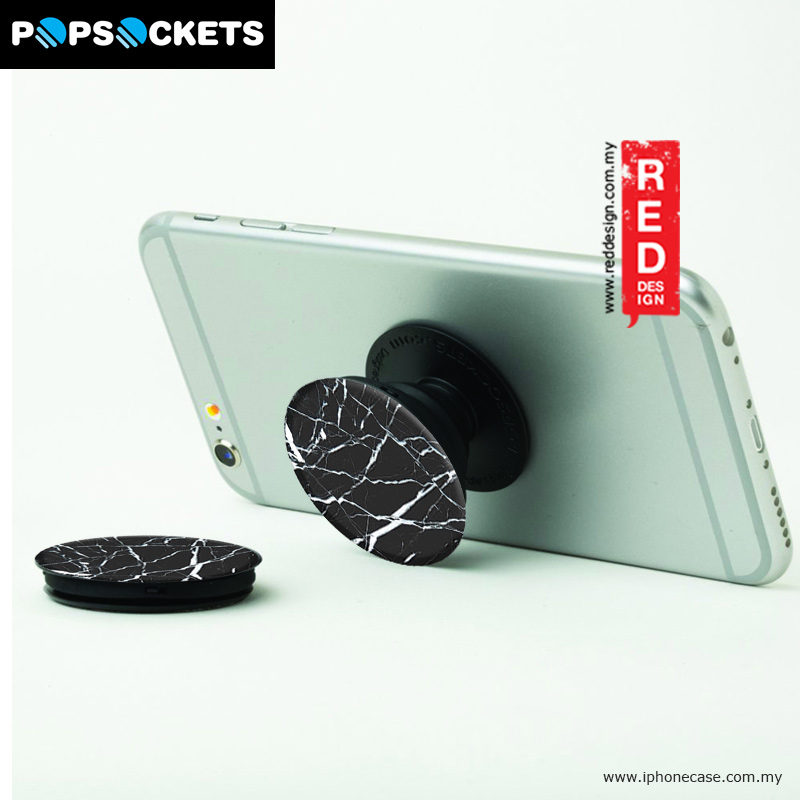 Picture of Popsockets A Phone Grip A Phone Stand An Earbud Management System - Black Marble