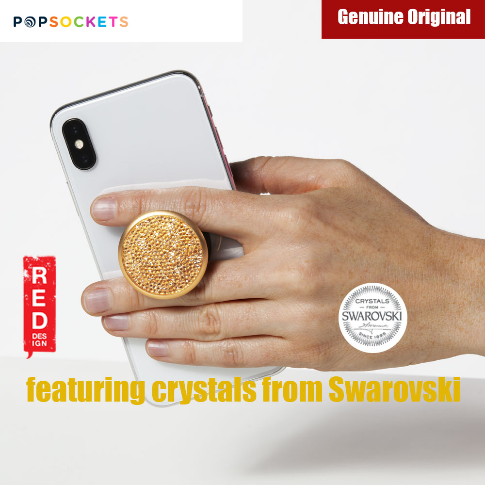 Picture of Popsockets A Phone Grip A Phone Stand An Earbud Management System Crystals from Swarovski (Golden Shadow Crystal)