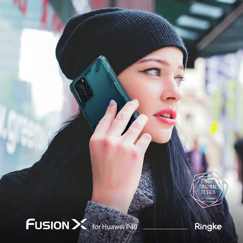 Picture of Huawei P40 Case   Ringke Fusion X Extreme Tough Protection Case for Huawei P40 (Turquoise Green)
