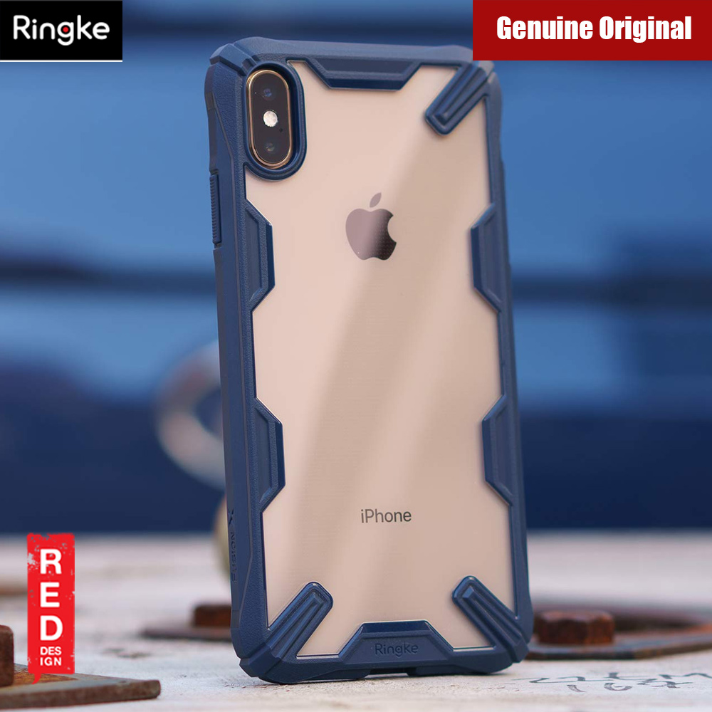 save off 9aa25 8be9f Ringke Fusion X Extreme Tough Protection Case for Apple iPhone XS Max (Blue)