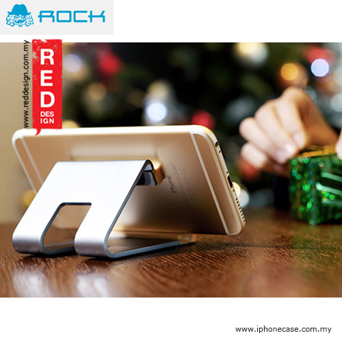 Picture of Rock Aluminum Metal and Wood Stand for Smartphone - Grey