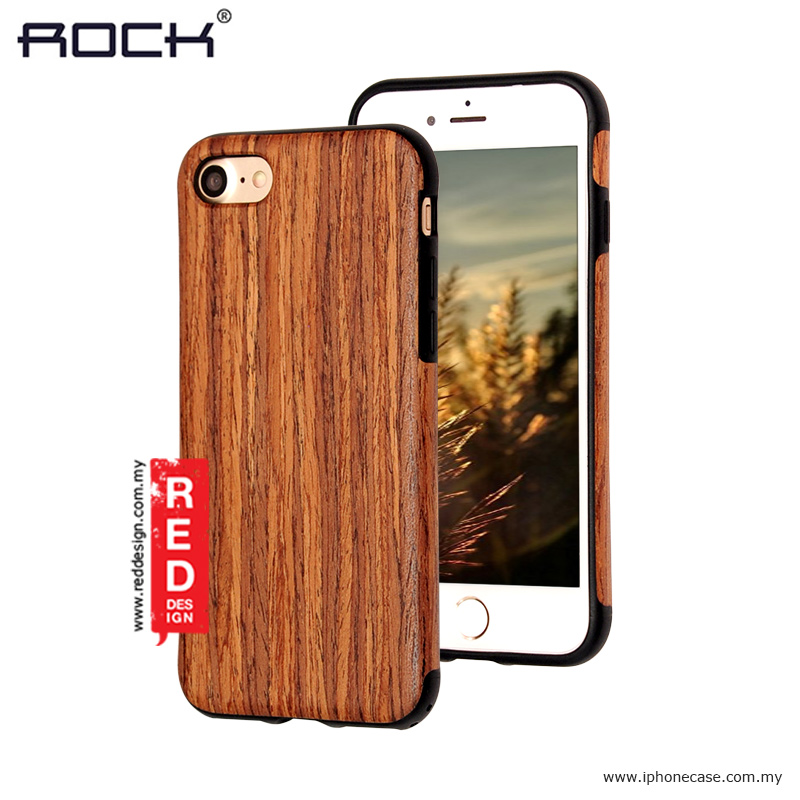 new style e88be a6fcb Rock Origin Series Wood Case for Apple iPhone 7 iPhone 8 4.7 - Rose Wood