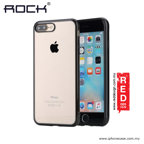 quality design 5015a 7bf93 Rock Pure Series Soft TPU Shockproof Drop Protection Case for Apple iPhone  7 Plus iPhone 8 Plus 5.5 - Black