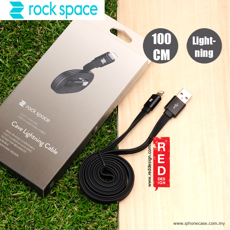 Picture of Rock Space Cave Series Lightning Cable 100cm - Black