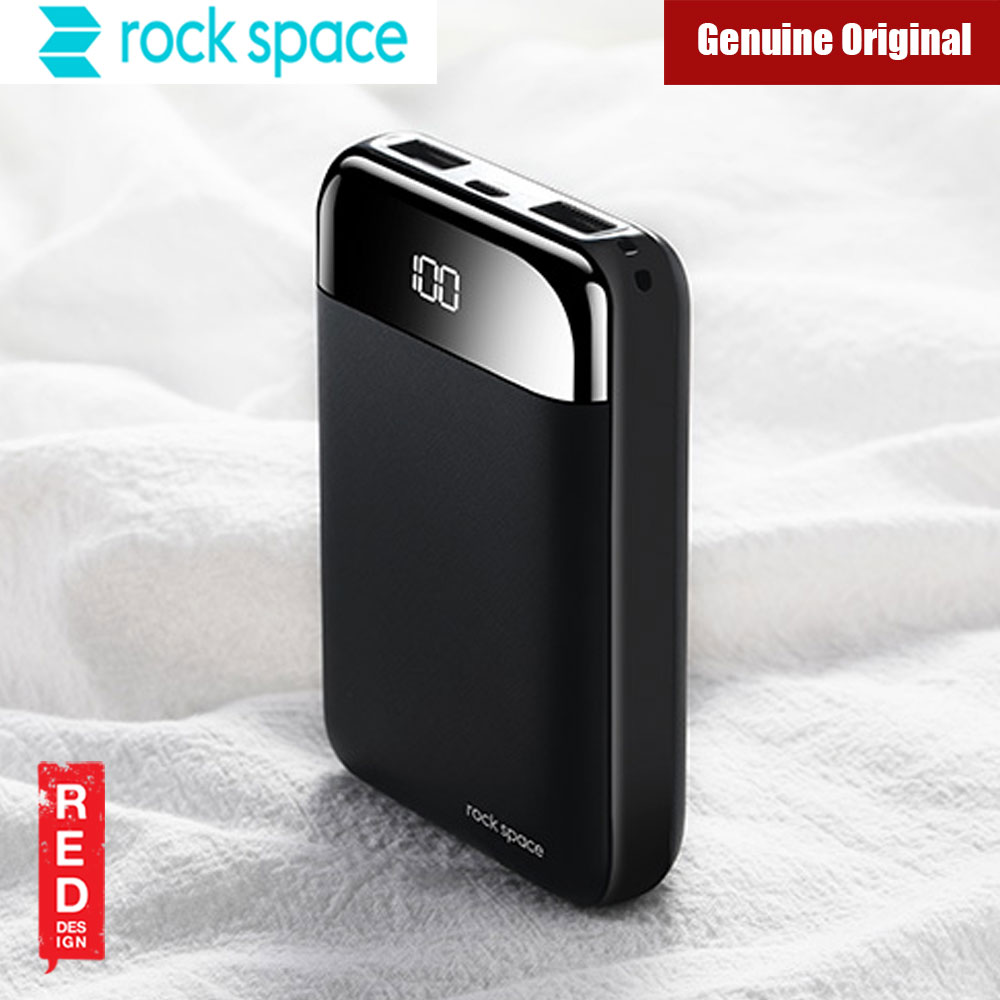 Picture of Rock Space P66 Mini Size Power Bank Digital Display with 10000mAh (Black)