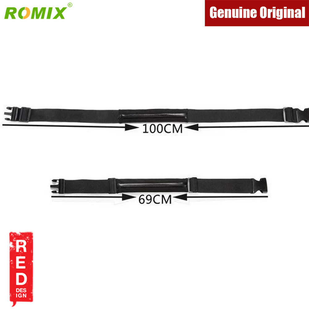 Picture of Romix Adjustable Sport Waist Running Belt Climbing Belt Cycling Belt (Black)