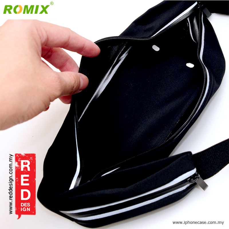 """Picture of Romix Window Touch Screen Running Belt Waist Pouch for up to 5.5"""" Smartphone - Black"""