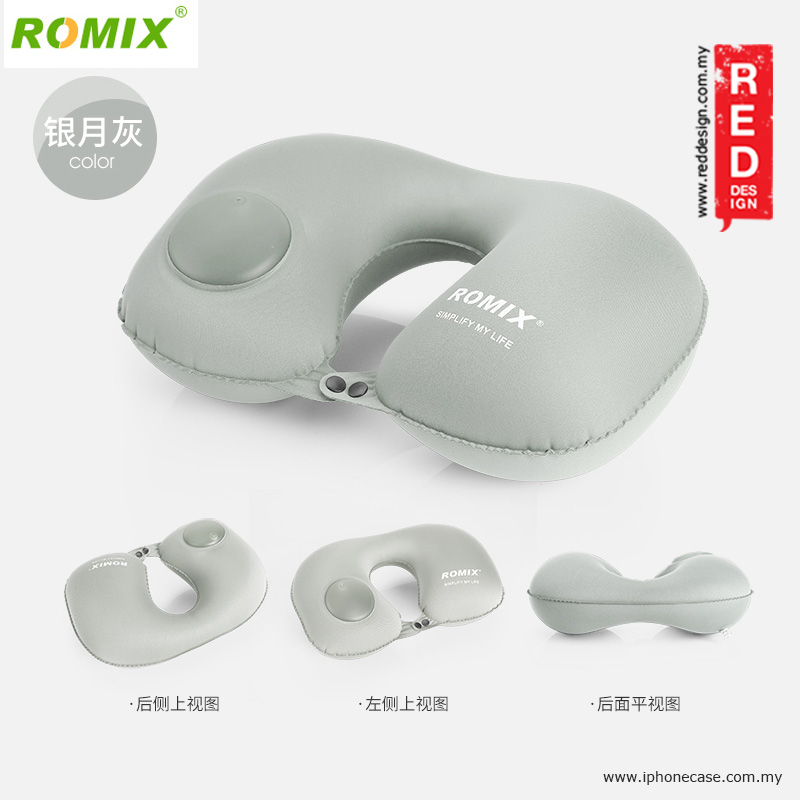 Picture of Romix Travel U Shape Inflatable and Foldable Travel Neck Pillow - Grey