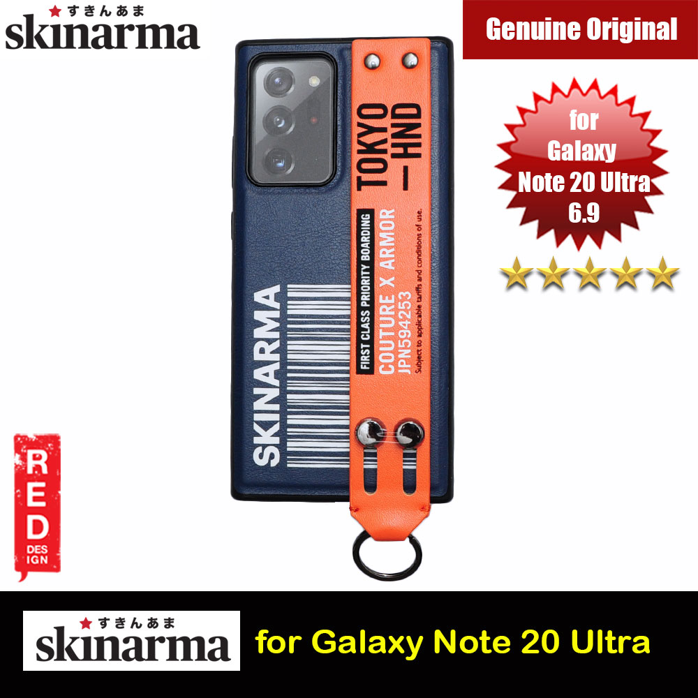 Picture of Samsung Galaxy Note 20 Ultra Case | Skinarma Drop Protection Standable Fashion Case with Strap for Samsung Galaxy Note 20 Ultra 6.9 (Bando Blue)