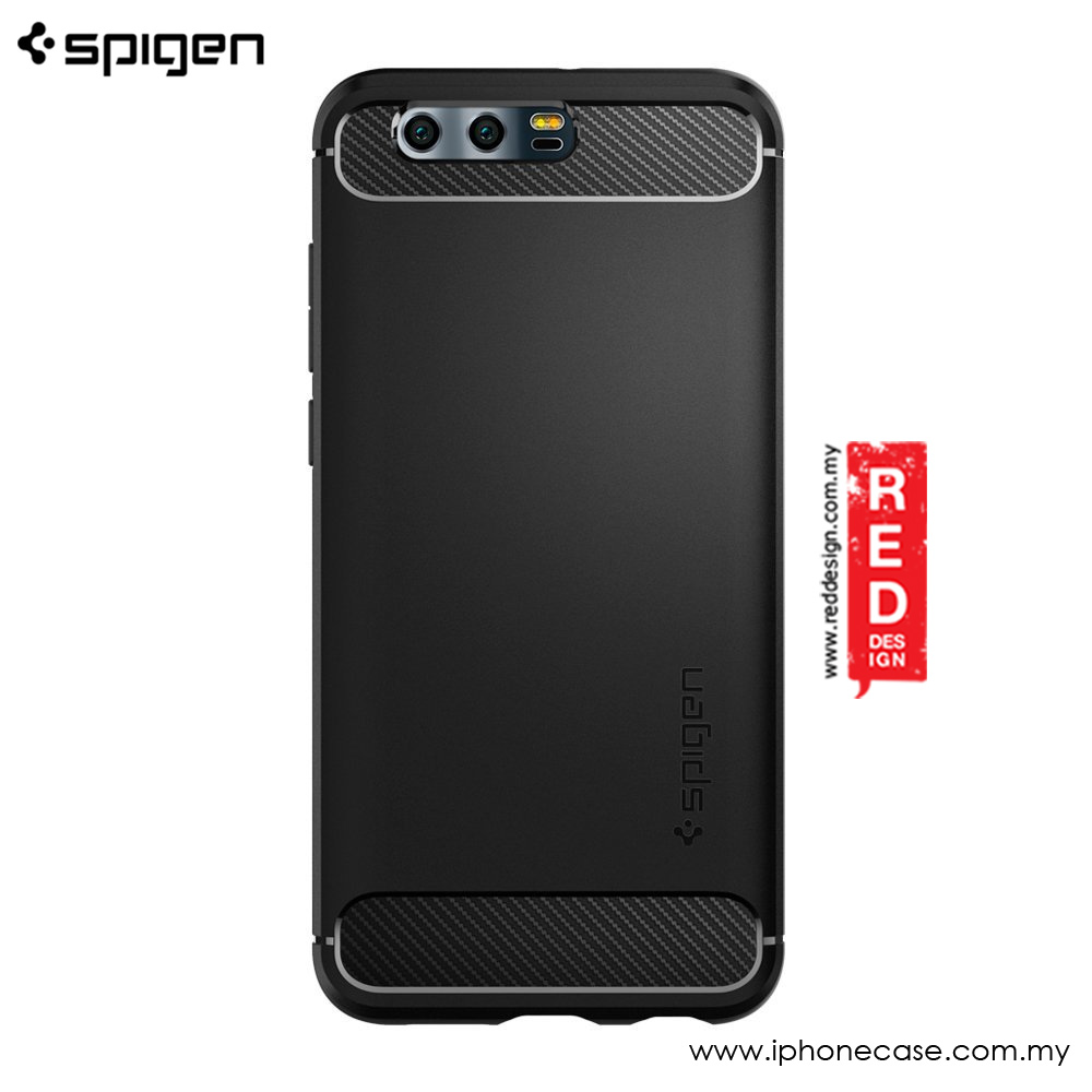 save off 42944 04ab5 Spigen Rugged Armor Military Grade Back Cover Case for Huawei Honor 9  (Black)