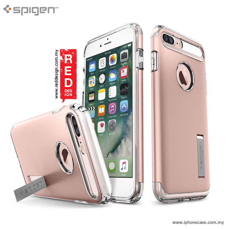 outlet store 1e10b 569aa Spigen Slim Armor Protection Case for Apple iPhone 7 Plus iPhone 8 Plus 5.5  - Rose Gold