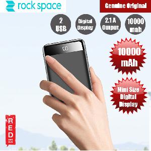Picture of Rock Space P66 Mini Size Power Bank Digital Display with 10000mAh (White)