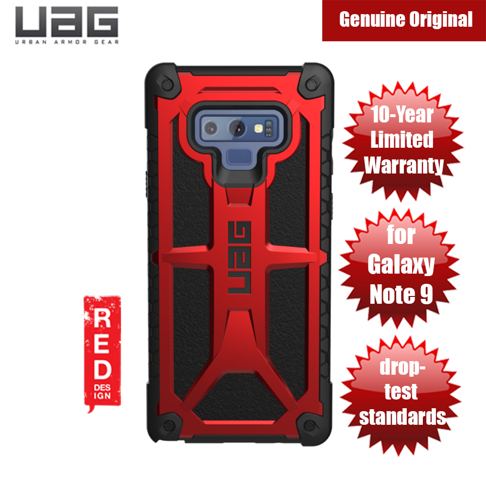 best website 27b74 c186d UAG Urban Armor Gear Protection Case Monarch Series for Samsung Galaxy Note  9 (Crimson Red)