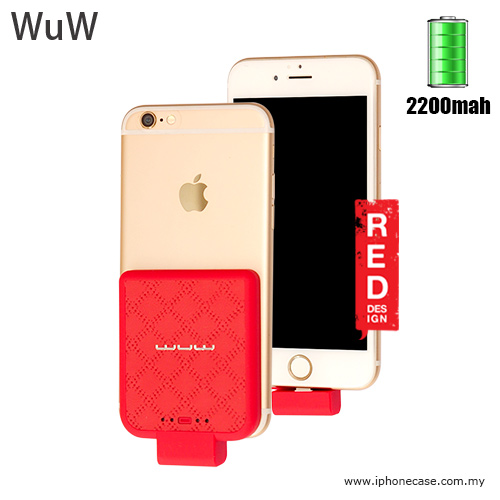 competitive price c8c47 811b3 WUW Power Pack iPhone SE iPhone 6S iPhone 6S Plus iPhone 7 iPhone 7 Plus  External Power Bank Back Clip 2200 mah - Red
