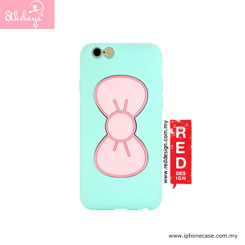 Picture of Apple iPhone 6 4.7 Case | 8thdays Pretty Bowtie Series Standable Case for iPhone 6 4.7 - Mint