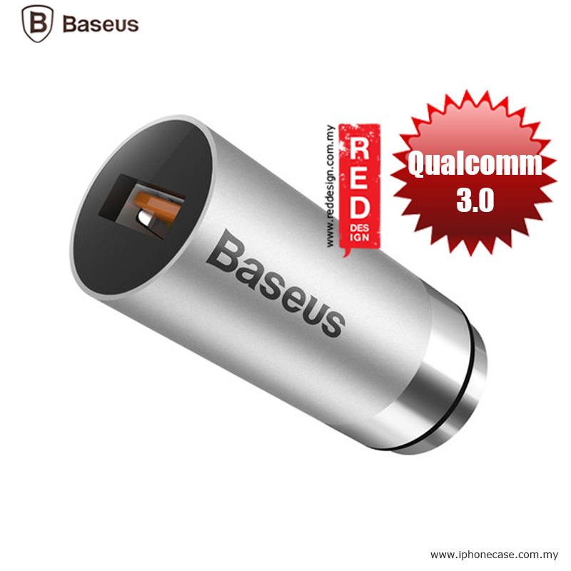Picture of Baseus CarQ Series Qualcomm Quick Charge 3.0 Car Charger - Silver Malaysia Singapore: Red Design- Red Design Cases, Red Design Covers, iPad Cases and a wide selection of Red Design Accessories in Malaysia, Sabah, Sarawak and Singapore