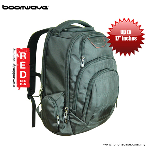 "Picture of Boomwave Excel Series Extra Large 17"" Laptop Bag XL002 (Black) Red Design- Red Design Cases, Red Design Covers, iPad Cases and a wide selection of Red Design Accessories in Malaysia, Sabah, Sarawak and Singapore"