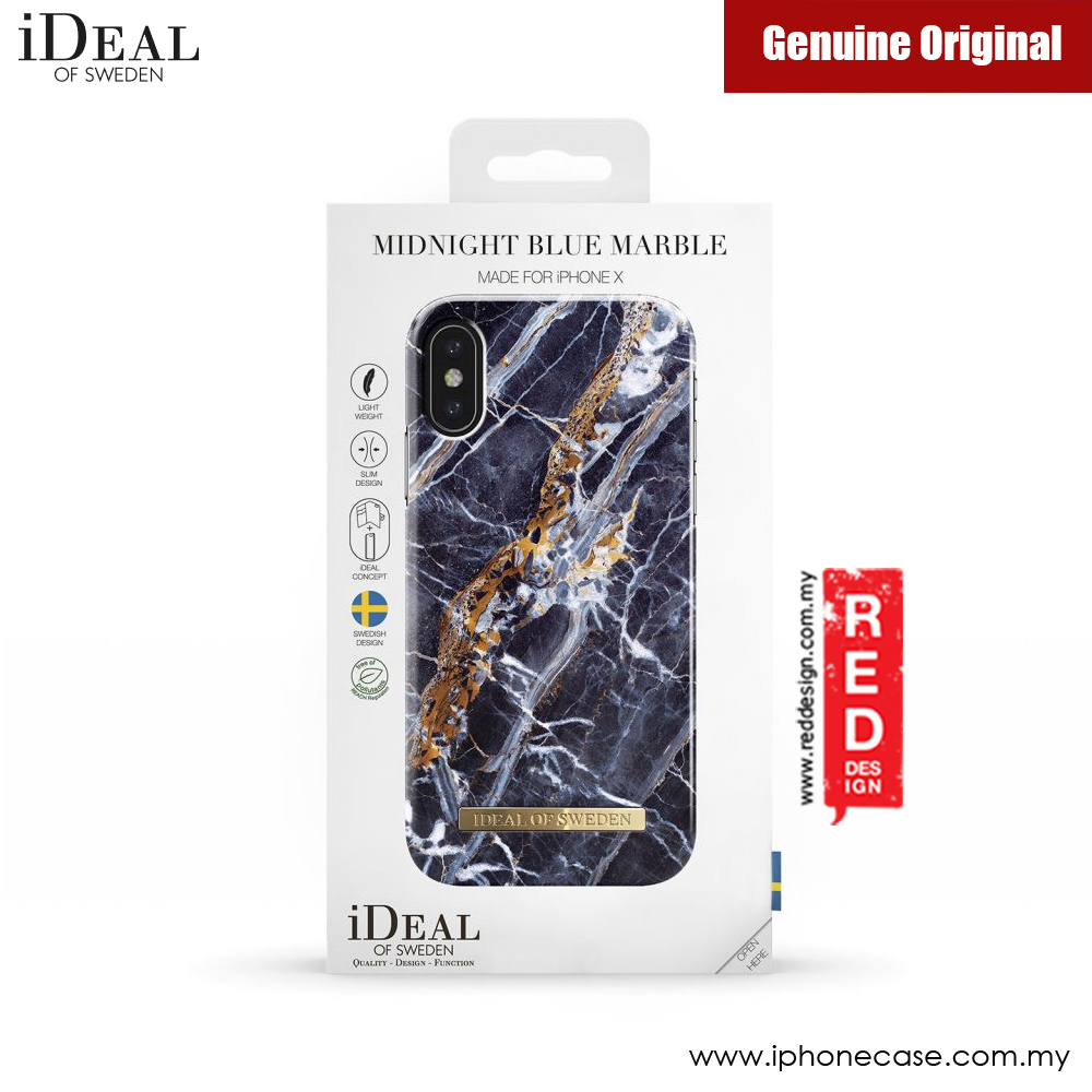 sneakers for cheap 835f4 b593f iDeal of Sweden Fashion Case for Apple iPhone X (Midnight Blue Marble)
