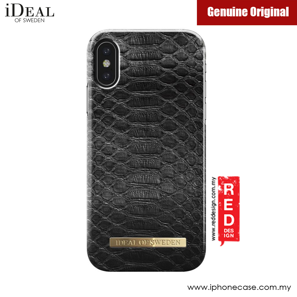 Picture of iDeal of Sweden Fashion Case for Apple iPhone X (Black Reptile) iPhone