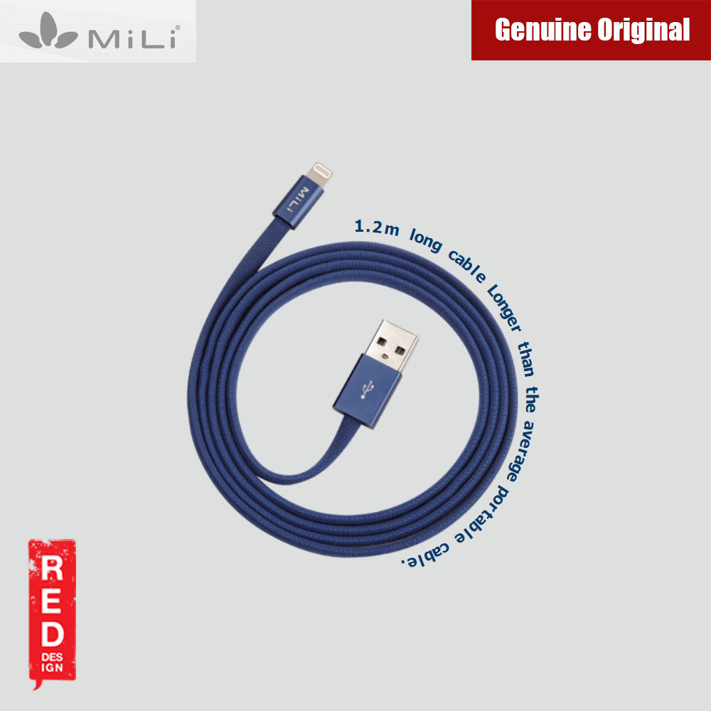 Picture of Mili Stylish MFI Certified Lightning to USB cable Charge & Sync For iPhone iPad iPod (Blue)
