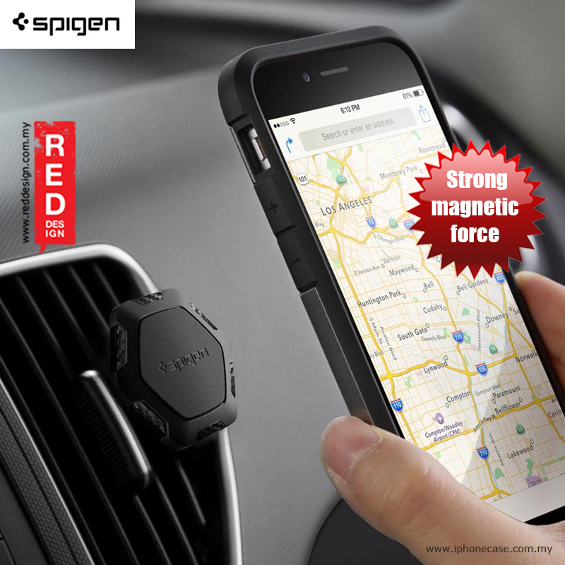 Picture of Spigen Kuel Signature(TM) QS11 Magnetic Air Vent Car Mount Holder Red Design- Red Design Cases, Red Design Covers, iPad Cases and a wide selection of Red Design Accessories in Malaysia, Sabah, Sarawak and Singapore