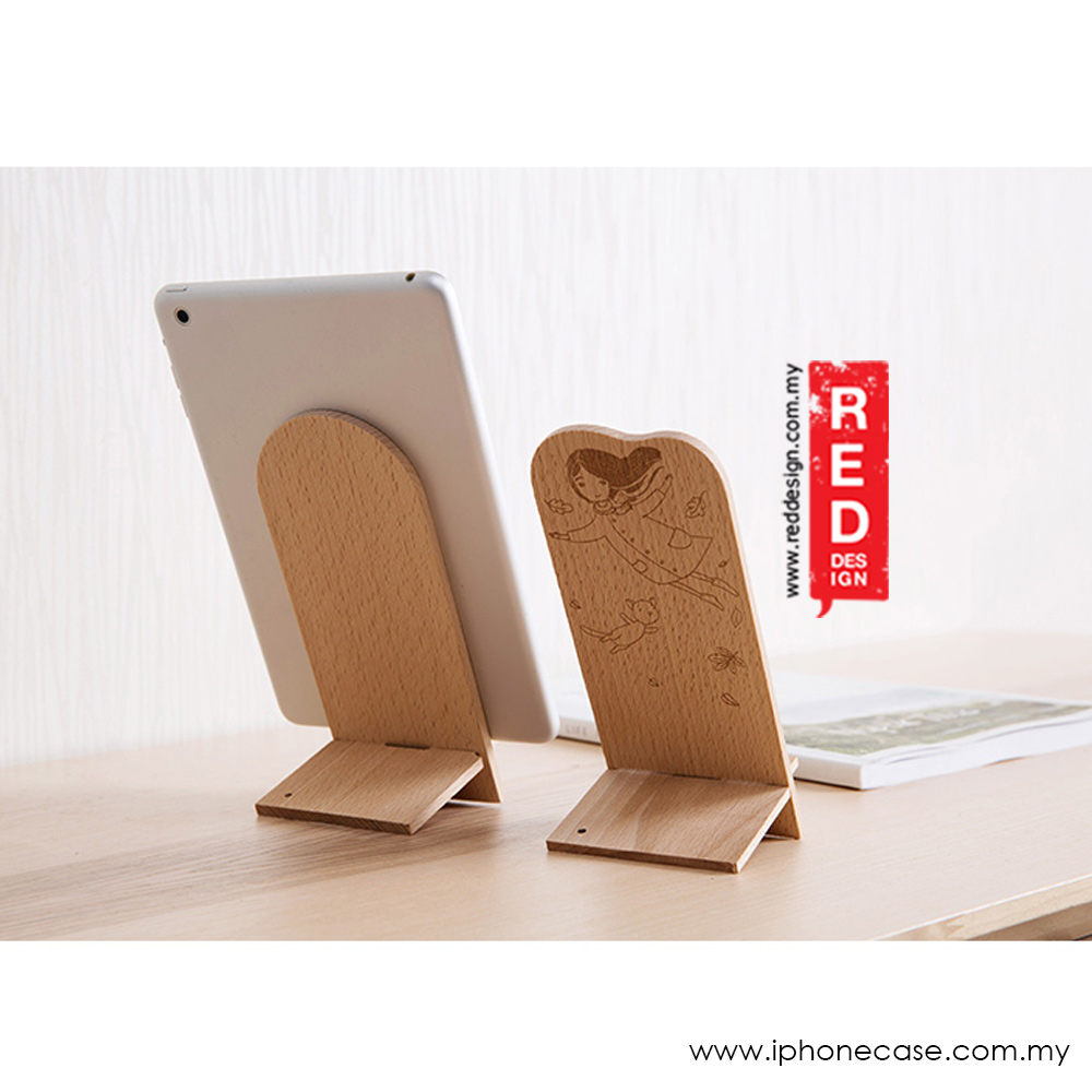 Picture of Beech Mobile Phone Lazy Tablet iPad Shelf Creative Desktop Mobile Phone Holder (Lady with Free Gift)