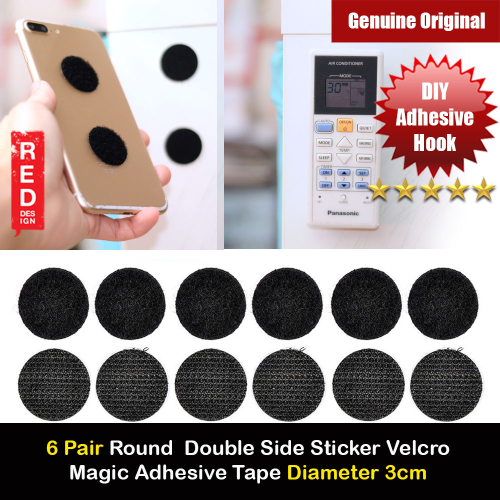 Picture of Round Double Side Sticker Self Adhesive Fastener Tape Hook Loop Nylon Table Chair Feet With Glue Disks Magic Adhesive for Smartphone Controller Diameter 3cm 6 Pairs Red Design- Red Design Cases, Red Design Covers, iPad Cases and a wide selection of Red Design Accessories in Malaysia, Sabah, Sarawak and Singapore