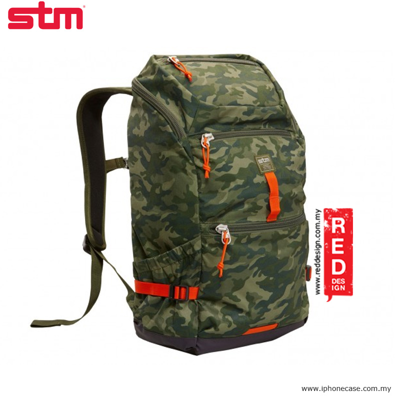 "Picture of STM drifter 15"" laptop backpack - Green Camo Red Design- Red Design Cases, Red Design Covers, iPad Cases and a wide selection of Red Design Accessories in Malaysia, Sabah, Sarawak and Singapore"
