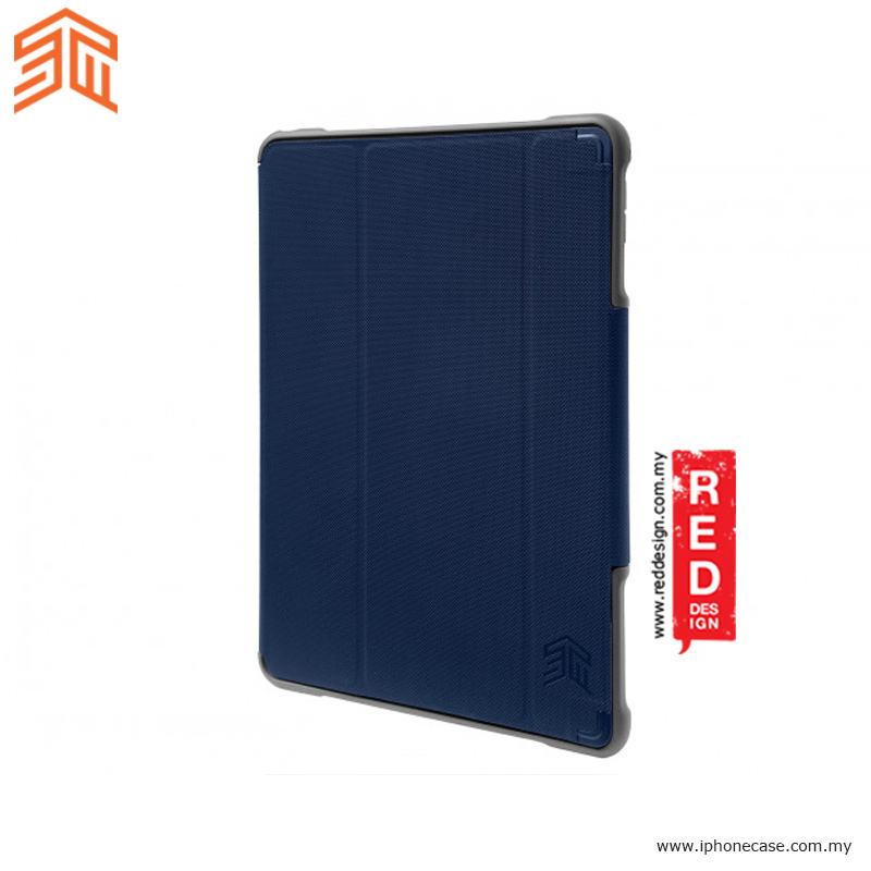 Picture of Apple iPad Pro 10.5 2017 Case | STM Dux Plus Military Grade Drop Protection Flip Cover Case for Apple iPad Pro 10.5 2017 - Midnight Blue