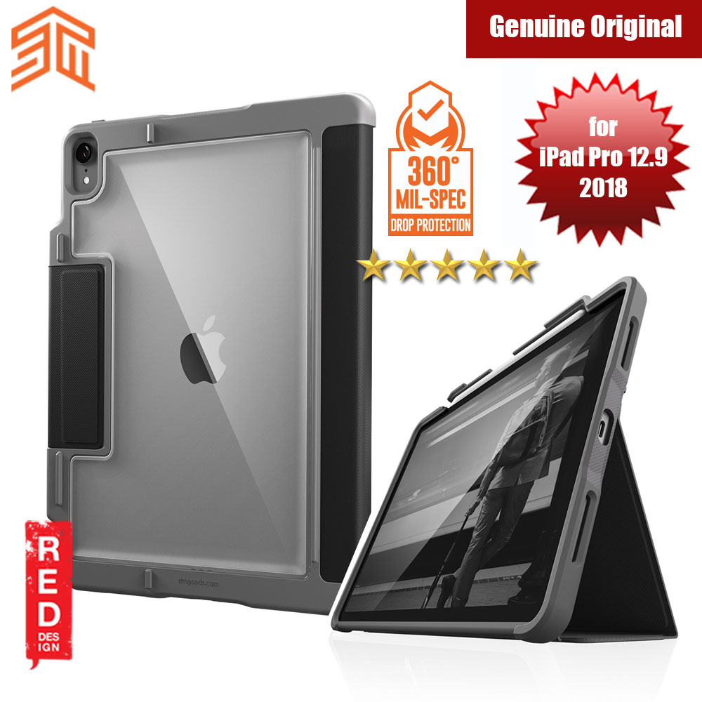 Picture of STM Dux Plus Military Grade Drop Protection Flip Cover Case for Apple iPad Pro 12.9 2018 (Black) Apple iPad Pro 12.9 2018- Apple iPad Pro 12.9 2018 Cases, Apple iPad Pro 12.9 2018 Covers, iPad Cases and a wide selection of Apple iPad Pro 12.9 2018 Accessories in Malaysia, Sabah, Sarawak and Singapore
