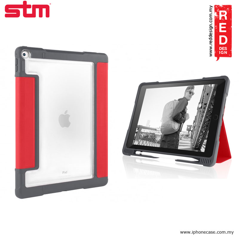 Picture of STM Dux Plus Military Grade Drop Protection Flip Cover Case for Apple iPad Pro 9.7 - Red Apple iPad Pro 9.7- Apple iPad Pro 9.7 Cases, Apple iPad Pro 9.7 Covers, iPad Cases and a wide selection of Apple iPad Pro 9.7 Accessories in Malaysia, Sabah, Sarawak and Singapore