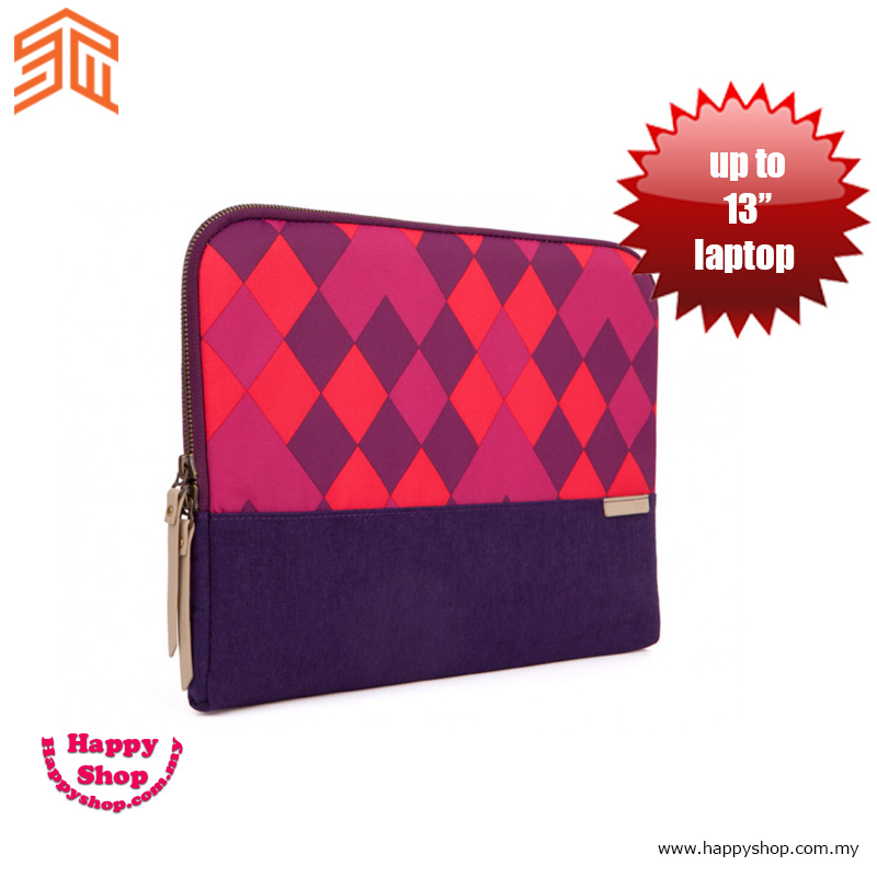 "Picture of STM Grace laptop Sleeve up to 13"" - Purple Diamonds Red Design- Red Design Cases, Red Design Covers, iPad Cases and a wide selection of Red Design Accessories in Malaysia, Sabah, Sarawak and Singapore"