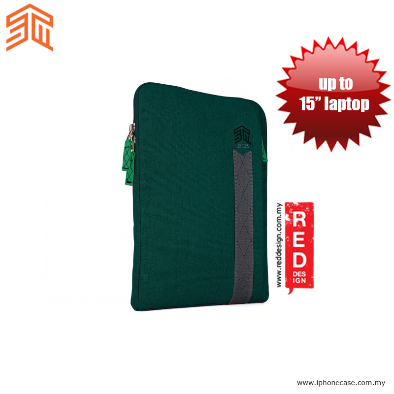 "Picture of STM Ridge laptop Sleeve up to 15"" - Botanical Green Red Design- Red Design Cases, Red Design Covers, iPad Cases and a wide selection of Red Design Accessories in Malaysia, Sabah, Sarawak and Singapore"